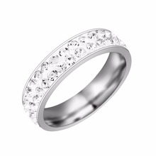 OBSEDE 2017 Cubic Zirconia Ring Jewelry Forever Wedding Rings Silver Color Women Finger Rings Rhinestones Lovers Jewelry