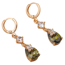 min order earrings gold tone Party fashion Jewelry Zircon crystal Drop Earrings JE638A(China)
