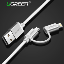 Ugreen 2 in 1 Lightning to Micro USB Cable Charging Cable for iPhone 6 6s 5s iPad USB Charger Data Cable for Samsung HTC Xiaomi(China)