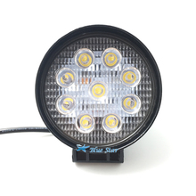 4 Inch 27W 12V 24V LED Work Light Spot/Flood Round LED Offroad Light Lamp Worklight for Off road Motorcycle Car Truck Hot New