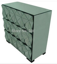 MR-401028 Mirrored  chest with three drawers