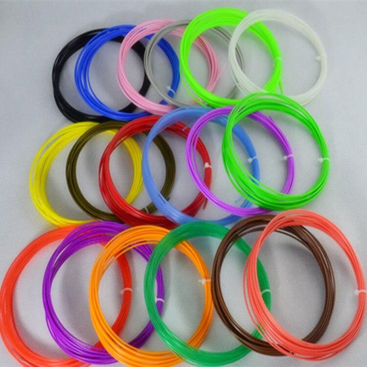 Low Temperature 3D Pen Plastic Wires Printer Material PCL Low Temperature 3D Printing Reusable 5 Meters 1.75mm PCL Filament
