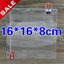 10 pcs/lot Clear box 16*16*8cm pvc box / baby shoe box / packaging box