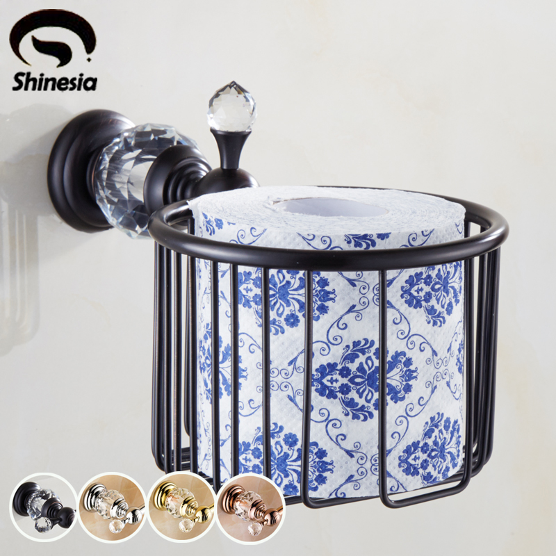 High Quality Solid Brass Bathroom Toilet Paper Holder Bathroom Accessories Wall Mount <br>