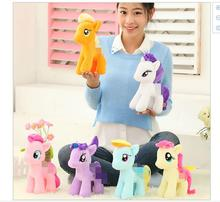 6pcs 25cm minecraft my cute lovely little horse toy Plush toys poni Unicorn doll toys for Children christams day Toys soft dolls