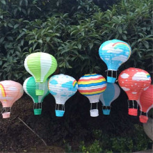 2pcs/lot 30cm (12inch) Hanging Rainbow Hot Air Balloon Paper Lantern Kids Birthday Party Decorations
