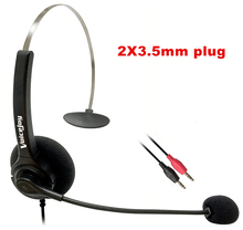 ONE extra ear pad and PC headphone earphone call center headset computer headset  dual 3.5 mm plug,professional headset