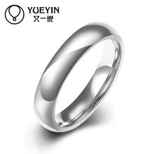 New Fashion titanium steel ring for men Engraving letters finger rings big crystal popular design ring for lovers R002-A-8