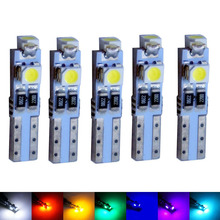 5X Car Auto LED T5 3 led smd 3528 Wedge LED Light Bulb Lamp 3SMD Interior Lights Instrument Lights Dashboard warning Indicator(China)