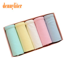 DENNYLITER 2017 New Arrival Sexy Panties Cotton Underwear Women Candy Color Underwear Girls Breathable Briefs Pink Panties Women