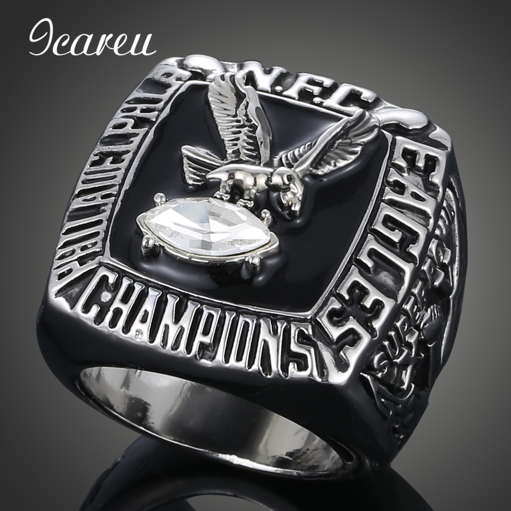 Championship Rings Finger Rings Fans Rings 1980 Philadelphia Eagles Super Bowl Rugby Championship Ring(China (Mainland))