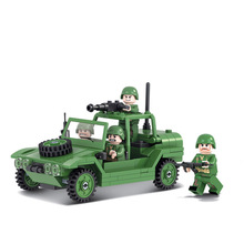 Winner 168pcs Military Model Parachute Assault Vehicles Marine Hero Fight Armor FittId Compatible Legoe Toy Building Blocks