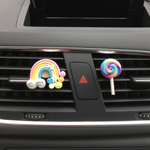 Car Air Freshener Lollipop and Rainbow Air Outlet Ornament for Lady/girl Auto Perfume Car Accessory Car-styling Solid Fragrance(China)