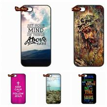 For Apple iPod Touch 4 5 6 iPhone 4 4S 5 5C SE 6 6S 7 Plus 4.7 5.5 Nice Jesus Christ Christian Cross Cases Cover