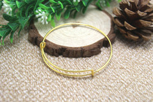 6pcs--Adjustable Bangle Bracelets blanks, Gold Charm Bracelet Base, Bangle Bracelet Set, Wire Bangle 68mm