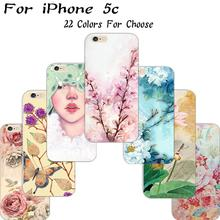 5C Cover For Apple iPhone 5C Case Cases Phone Shell Ultrathin Soft TPU Painted Tempting Lotus Root Charm Girl Best Choose Hot!