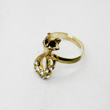 On Sale 1 Pc Cool Style Metal Gold Cat Ring Unique Punk Fashion Trendy Ring High Quality(China)