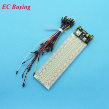 MB102 Breadboard 3.3V/5V Power Supply Module +MB-102 830 Point Solderless Prototype Bread Board kit +65 Flexible Jumper Wires