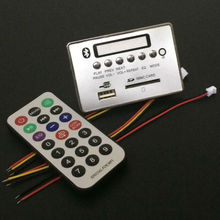 Aipinchun 12V Bluetooth Receiver Module WAV WMA MP3 Decode Board Digital LED player FM Radio IR Remote Control(China)