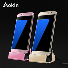 Aokin Charger Dock Stand 2 In 1 Micro USB Dock Stands Cradle Station Fast Charging Holder For iPhone 5 SE Samsung S8 Phone Stand
