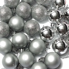 SZS Hot New 24PC Christmas Tree Decor Ball Bauble Hanging Xmas Party Ornament Decor Home Silver