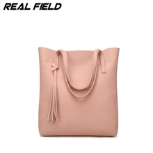 Large Capacity Ladies Tassel Shopping Bag Bolsa Designer Women PU Leather Handbag Gold Bucket Shoulder Bags Lady Cross Body Bags(China)