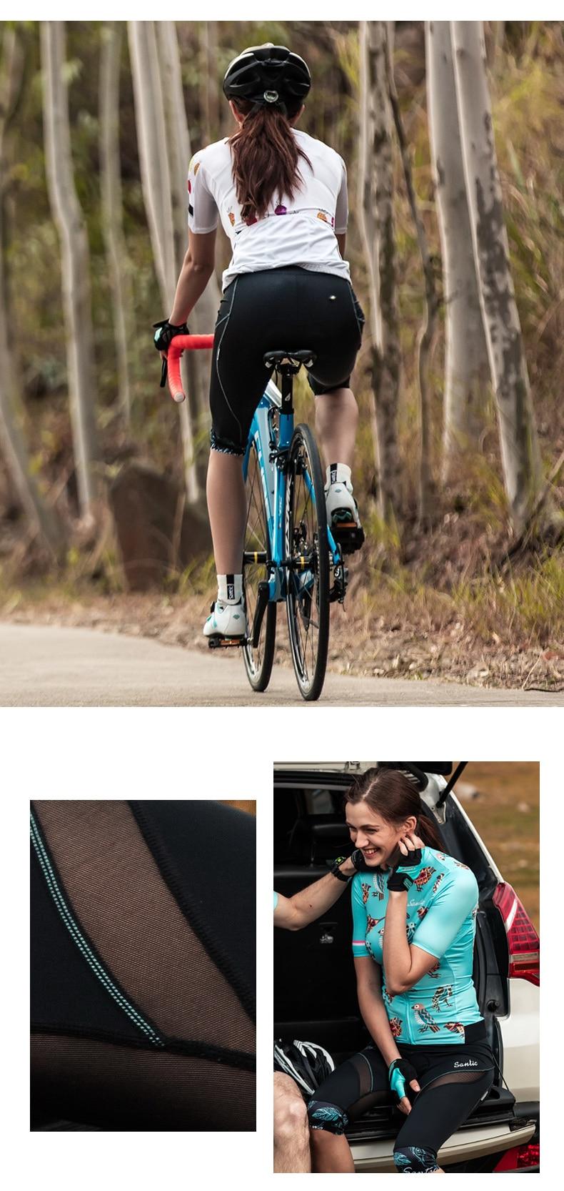 2018 Santic Cycling Shorts Women MTB Shorts Downhill Bike Shorts Bicycle Short Hollow Out Road Sport Cycling 34 Shorts Mesh (13)