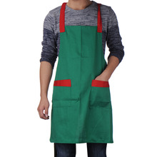 Korean Fashion Waiter Waitress Apron Restaurant Bar Kitchen  Apron Sleeveless For Women With Two Pockets AE28