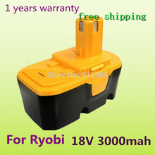 New 18V Ni-MH 3.0Ah Replacement Power Tool Battery for Ryobi ABP1801 ABP1803 BCP1817/2SM B-1815-S 1322401 1323303 BID-1801M