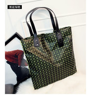 New vintage baobao bag Geometric Plaid Vertical Shoulder Bag brand logo inside  Silicone Casual totes female women-bag