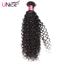 "UNICE HAIR 100% Kinky Curly Virgin Hair Brazilian Hair Weave Bundles Natural Color Human Hair Extensions 1 Piece 8""-26"""