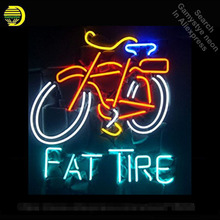 Buy Fat tire neon Sign Bike neon Real Glass Tube neon lights Recreation Windows Professiona Iconic Sign Advertise neon sign board for $101.60 in AliExpress store