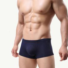 New Mens Fashionable Breathable Modal Mid Waist Underwear Men Shorts Boxer With 7 Patterns For Choice(China)