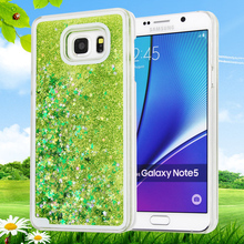 Glitter Stars Dynamic Liquid Quicksand Hard Case Cover For Samsung Galaxy Note 2 3 4 5 Transparent Clear Phone Case