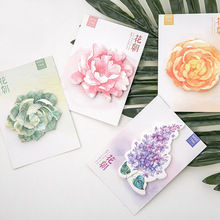 Cute Kawaii Flower Sticky Paper Memo Pad Post It Note For Kids Korean Stationery School Supplies Free Shipping 3306(China)