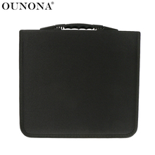 OUNONA 288 Disc CD DVD Case Storage Bag case Album Holder Box Cover Carrying Organizer Disc Storage Wallets free shipping(China)