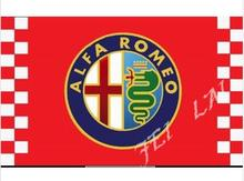 ALFA ROMEO racing flag,90*150CM polyester ALFA ROMEO banner with metal hole 3x5 ft