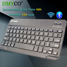 DMY Ultra Slim Aluminum Mini Wireless Gaming keyboard Bluetooth teclado gamer Keyboards For IPAD IOS Android Tablet PC Windows(China)