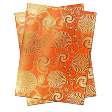 Free shipping African head tie,Head Gear, Sego Gele&Ipele,Head Tie & Wrapper, 2pcs/set HT0346   ORANGE