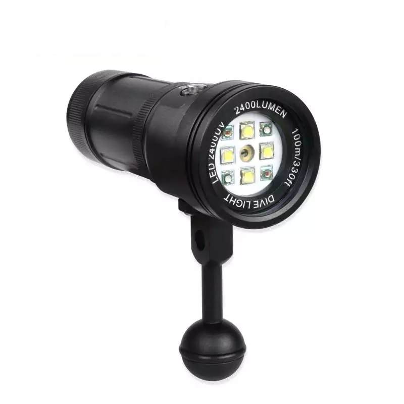 2016-MK-15-Meikon-2400LM-Diving-Torch-Lighting-Light-with-Laser-for-Underwater-Waterpoof-Video-Camera (2)