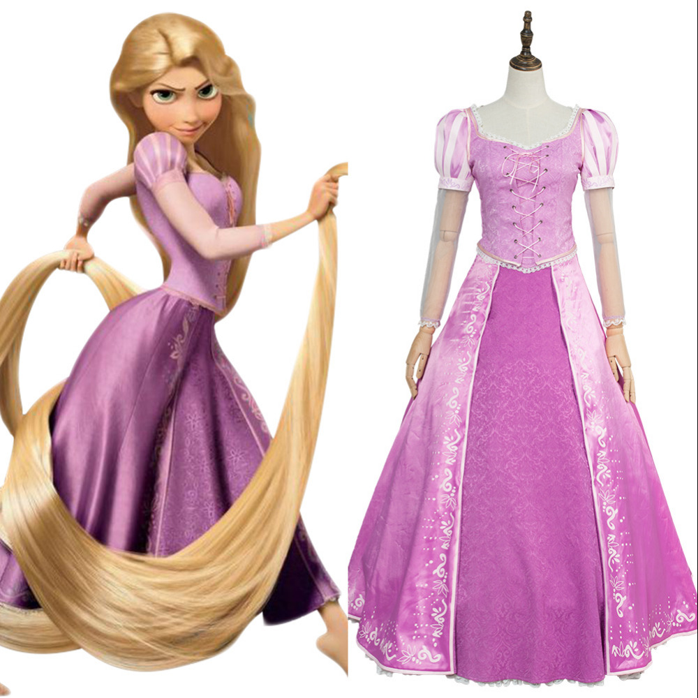 Movie Anime Tangled Princess Rapunzel Fancy Dress Vest Anime Cosplay Costume Halloween Carnival Cosplay Costume