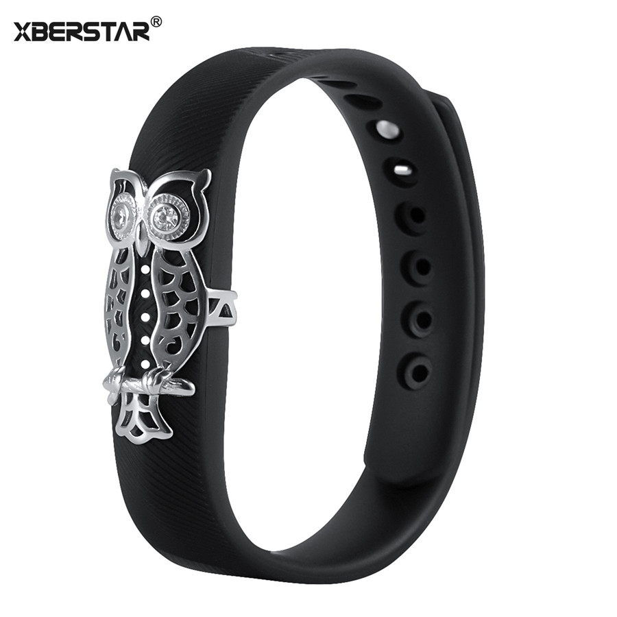 Fashion Bling Flower Cat Owl Wriststrap Band Cover for Fitbit Flex 2 Tracker Hot