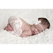 New Top Sale Newborn Photography Props Studio Shoots Newborn Lace Headbands and Pants Set 4-10M Infant Costume Outfit