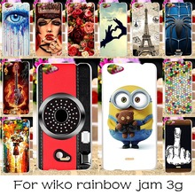 TAOYUNXI 22 Luxury DIY Silicone Phone Case Cover For Wiko Rainbow Jam 3G 5.0 Inch Back Covers Shell Housing Hood Bags Hood