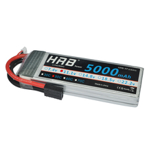HRB FPV 450 500 AKKU 11.1V 5000mAh 50C 100C 3S RC LiPo Battery For RC Helicopter Boat Traxxas Car Bateria(China)