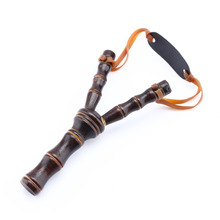 Hot Sale Bamboo Style Wood Wooden Sling Shot Toys Kids Sport Game Slingshot Catapult Hunting BCA Outdoor funny(China)