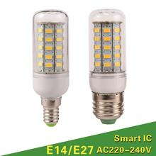 Lampada LED Bulb E27 LED Lamp 5730 SMD LED Lights Corn Bulb 24 36 48 56 69 72Leds E14 Chandelier Candle Lighting Home Decoration