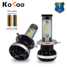 KOSOO  H4 Hi/Lo Car LED Headlight lonowo lamp 72W 6500K 8000LM Automobile Headlamp auto LED fog light diy color temperature