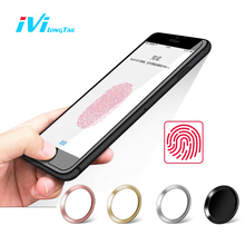 IVI Home Button Stickers for iPhone 5s 6 6s 7 Plus Sticker Touch ID Fingerprint Unlock Decals Film for iPad Air Pro Mini Decals(China)