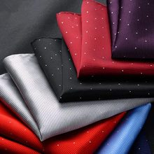 Men's suit pocket towel groom dress suit Korean version of the small dot silk scarf polyester # 1867482(China)